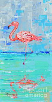 Flamingo reflection II by Paola Correa de Albury