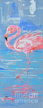 Flamingo Serene I by Paola Correa de Albury