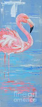 Flamingo Serene II by Paola Correa de Albury