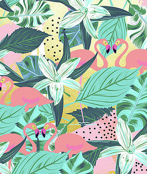 Flamingo Tropical by Uma Gokhale