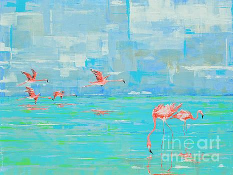 Flamingos Flock by Paola Correa de Albury