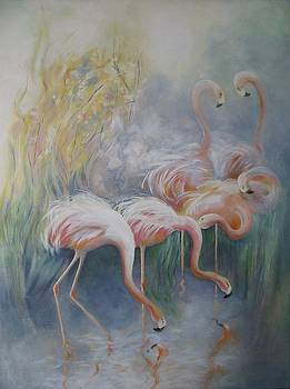 Flamingos by Eve Corin