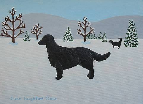 Flat Coated Retriever by Susan Houghton Debus