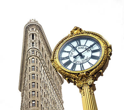 Flatiron Building and Clock by June Marie Sobrito