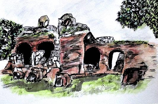 Flavian Amphitheater Pozzuoli Italy by Clyde J Kell