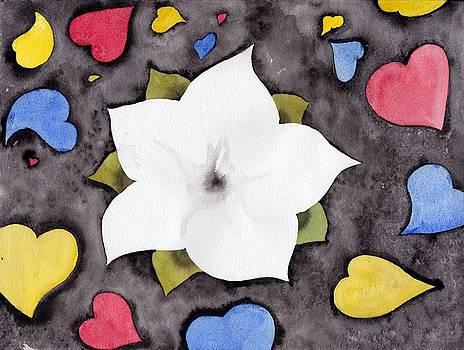 Fleur et coeurs by Marc Philippe Joly