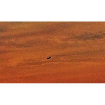 Flight In Orange Sky #europe #sky by Emmanuel Varnas
