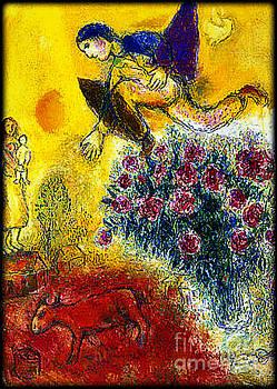 Marc Chagall - Flight