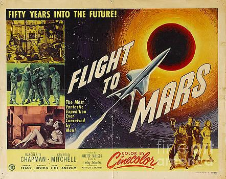 R Muirhead Art - Flight to Mars 1951 sci fi movie poster
