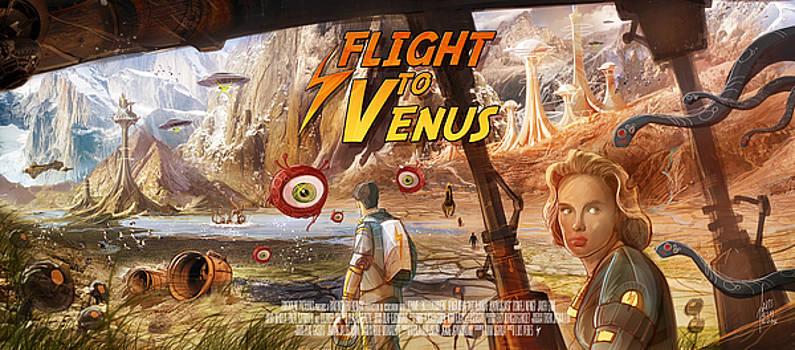 Flight to Venus fake Movie Poster by Luis Peres