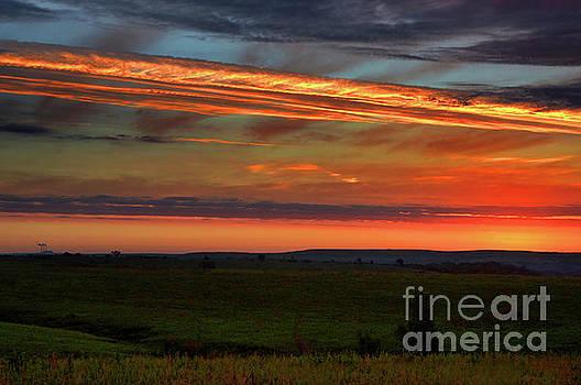 Flint Hills Sunrise by Thomas Bomstad