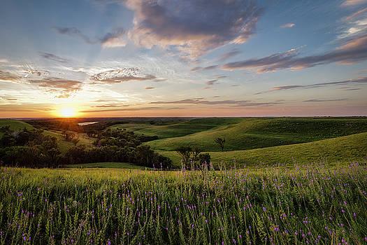 Flint Hills Sunset by Scott Bean