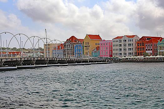 Allan Levin - Queen Emma Float Bridge in Colorful Curacao