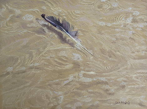Floating Feather by Lea Novak