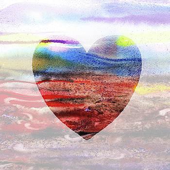 Irina Sztukowski - Floating Heart Watercolor Silhouette