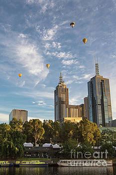 Floating over Melbourne by Howard Ferrier
