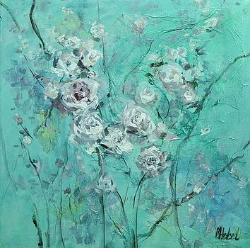 Floating Roses Painting by Chris Hobel
