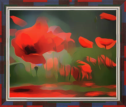 Floating Wild Red Poppies by Clive Littin