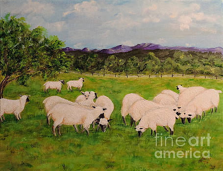 Flock In The Meadow by Jacki McGovern