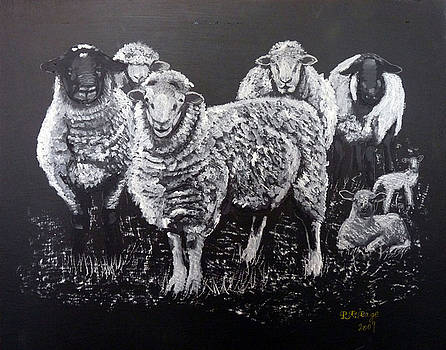 Richard Le Page - Flock of Sheep