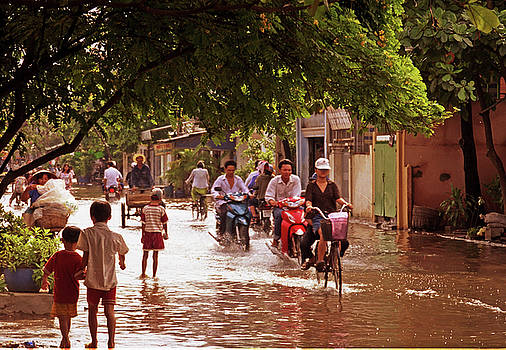 Flooded Ho Chi Minh City Street by Rich Walter