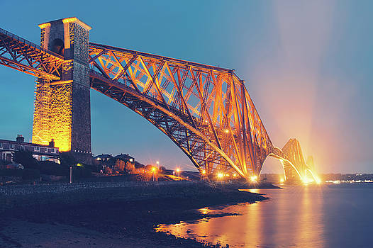 Floodlit Forth Bridge by Ray Devlin