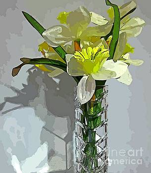 John Malone - Floral and Crystal Glass Abstract