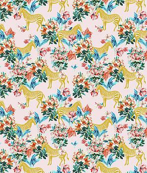 Floral and Zebras by Uma Gokhale