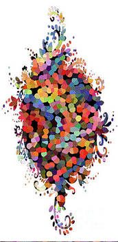 Floral Bouquet Abstract With Dots by Genevieve Esson