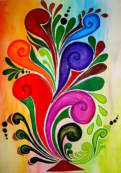 Floral Bright by Saran A N