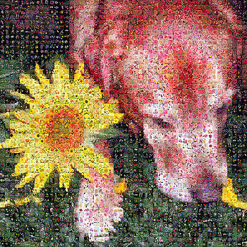Floral Dog by Gilberto Viciedo