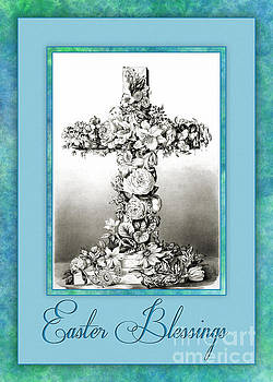 Floral Easter Cross by JH Designs