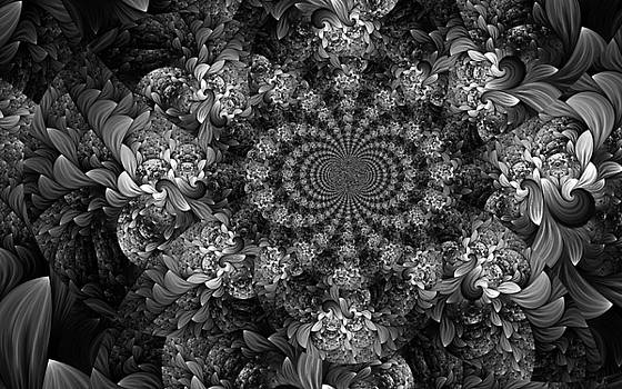 Floral Fractal 1 by Digital Art Cafe