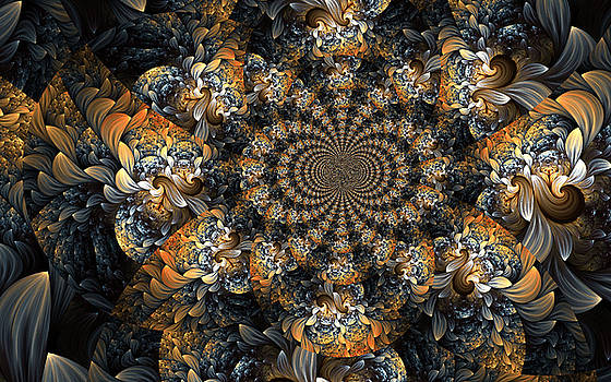 Floral Fractal 2 by Digital Art Cafe