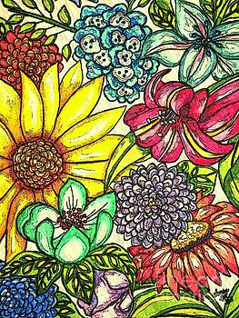 Floral Graphic 2 by Sandra Lett
