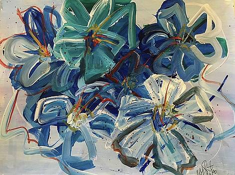 Floral in Blue by Mary Gallagher-Stout