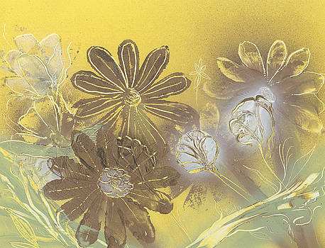 Jason Girard - Floral in Gold and Yellow