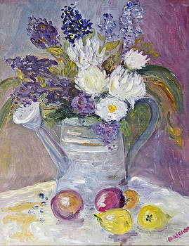 Floral in Watering Can by Barbara Anna Knauf