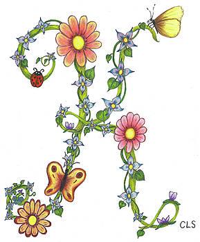Floral K by C L Swanner