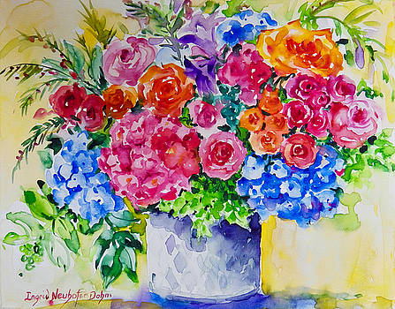 Floral Menage by Ingrid Dohm