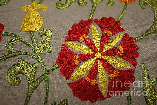 Floral Mandala Tapestry - Detail by Dora Sofia Caputo Photographic Art and Design
