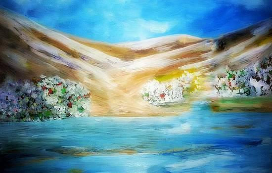 Floral mountains by Madina Kanunova