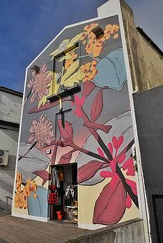 Floral Mural in the Azores by Steffani Cameron