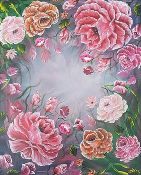 Floral enchanting roses by Angela Whitehouse
