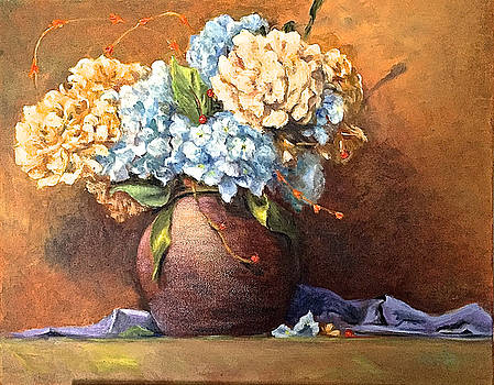 Floral No. 1 Hydrangeas by Aline Lotter