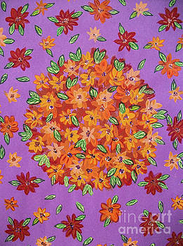 Floral  sphere by Dawn Siegler
