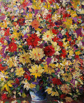 Floral still life by Mario Zampedroni