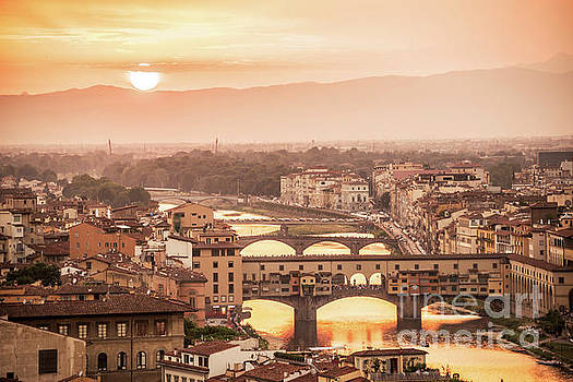 Delphimages Photo Creations - Florence at sunset