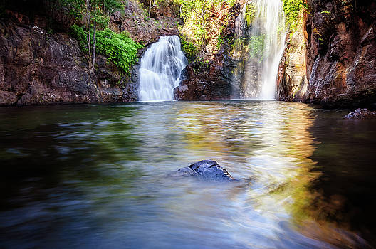 Florence Falls in Litchfield National Park, NT, Australia. by Daniela Constantinescu