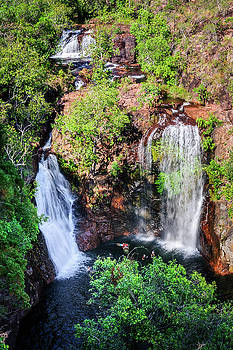 Florence Falls - view from above-NT, Australia by Daniela Constantinescu